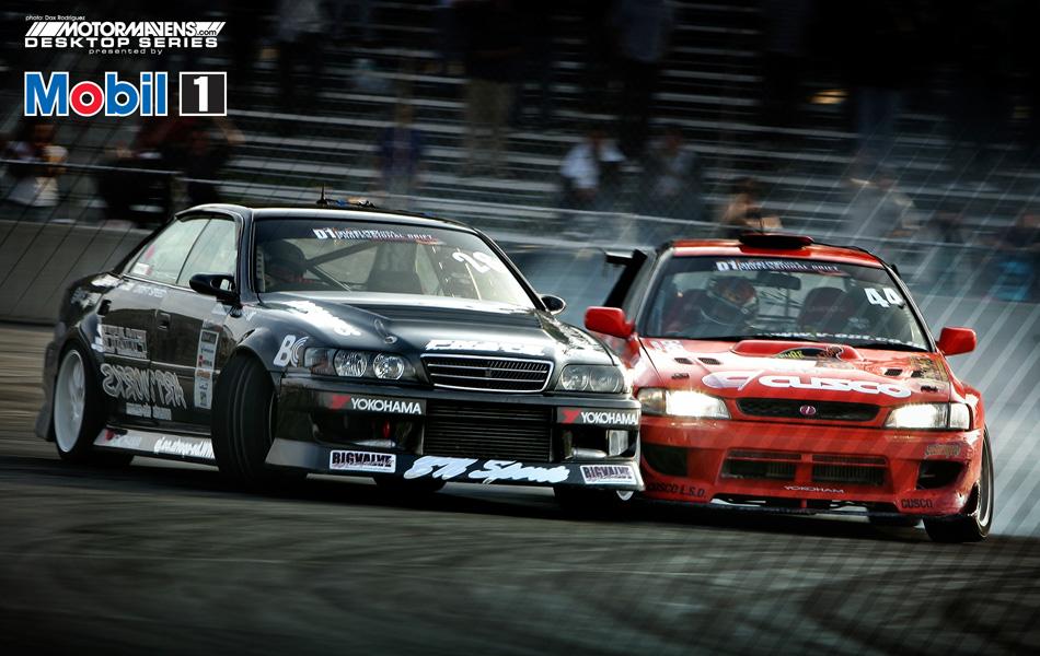 MotorMavens/Mobil1 Desktop Series - Daigo Saito/Nobushige Kumakubo Tandem Drift @ D1GP Arizona