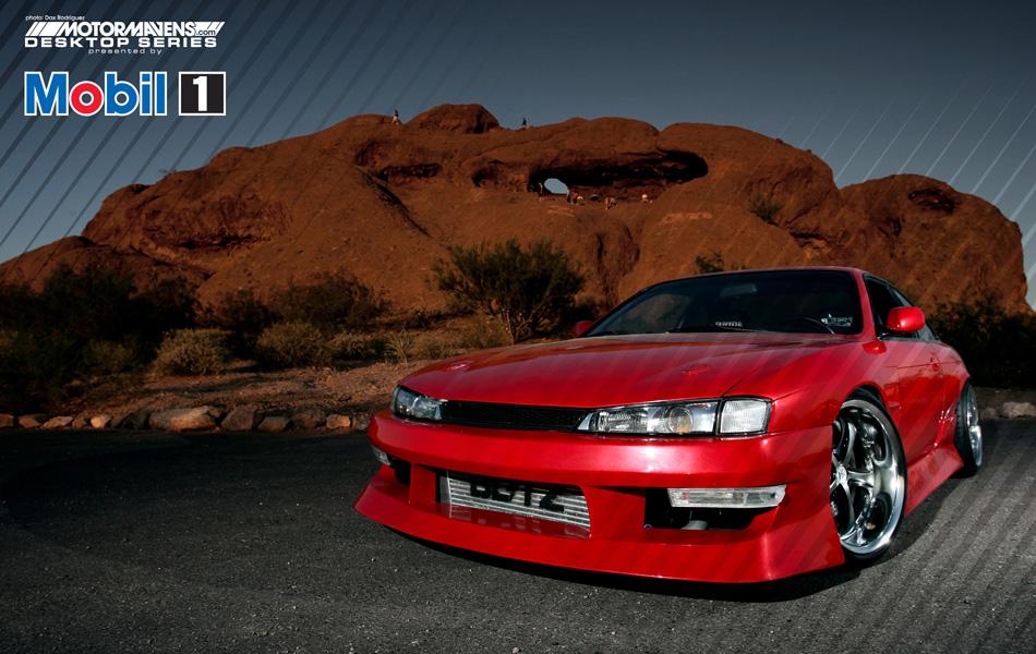 MotorMavens/Mobil1 Desktop Series - Red Kouki S14