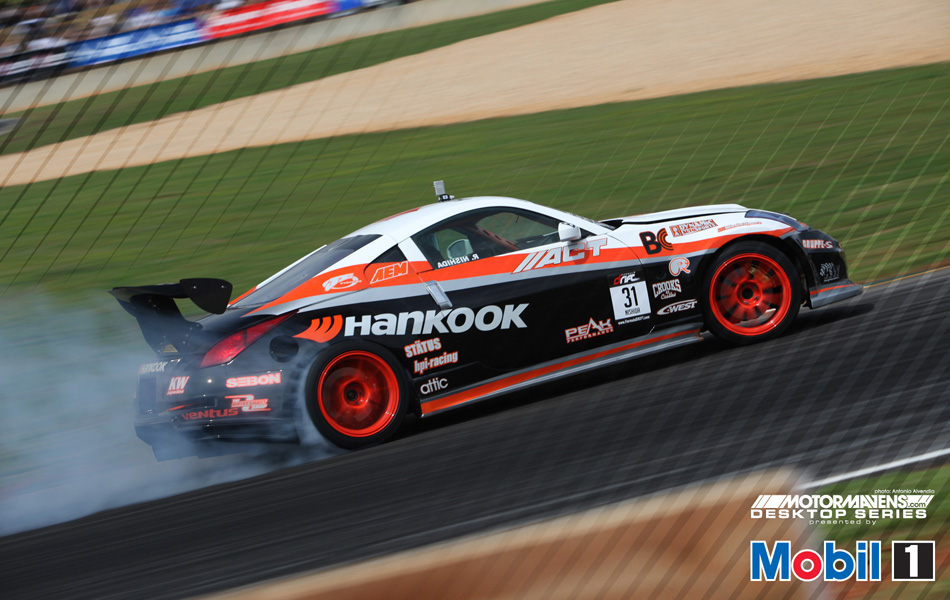 MotorMavens/Mobil1 Desktop Series - Robbie Nishida Hankook 350z at Formula Drift - Road Atlanta