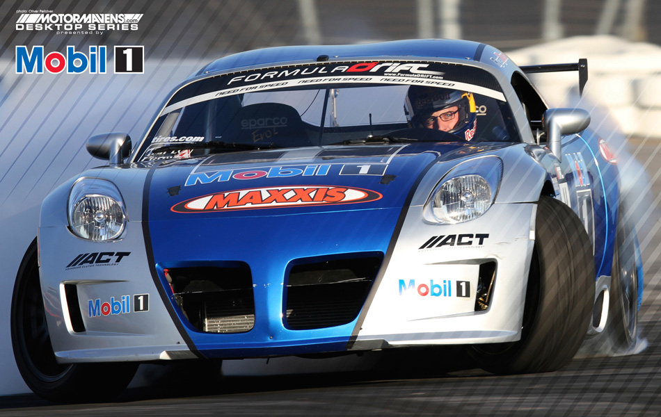 MotorMavens/Mobil1 Desktop Series - Ryan Tuerck drifting the Mobil1/Gardella Racing Pontiac Solstice at Formula Drift Long Beach