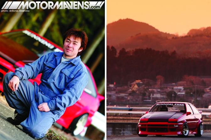 Running Free Kanagawa drift team AE86 Sprinter Trueno Yamashita Koichi Run Free D1GP Antonio Alvendia Cipher Garage