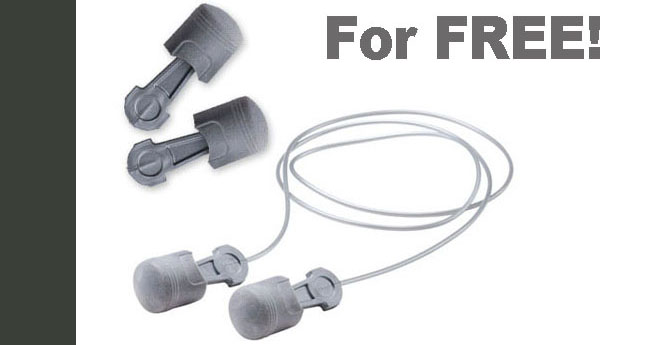 Sign up and get these piston-shaped earplugs for FREE!