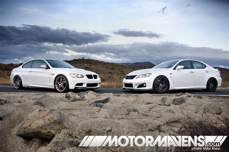 The Bmw E92 M3 And Lexus Is F Are Both Shining Examples Of Sports Minded Luxury Cars They Project An Image Refinement Combined With
