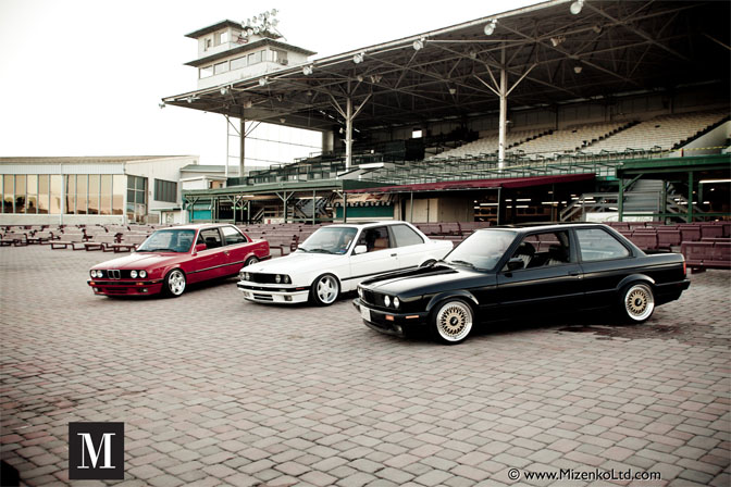 E30 BMWs Group Shot by Patrick Mizenko