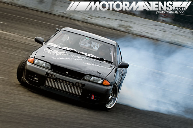 Ian Fournier Drift Safari Nissan Skyline R32 Evergreen Drift Yoshi Shindo