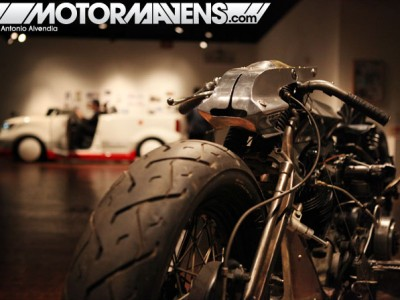 shinya kimura, janm, japanese american national museum, zen garage, o2 motorworks, oni motorworks, cafe racer, giant robot