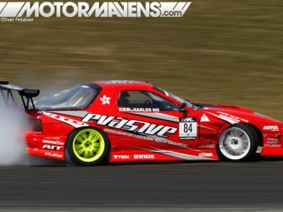 V8, LS engine, FC3S, Mazda, RX7, charles ng, formula drift, formula d, drifting, road atlanta