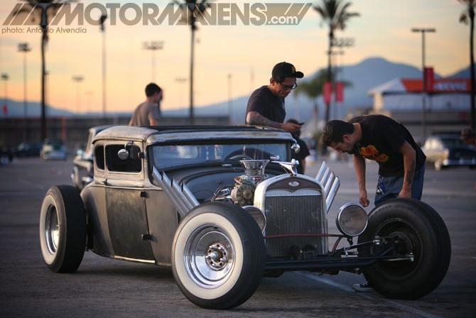 Mooneyes, Mooneyes Xmas PArty, Irwindale Speedway, hot rod