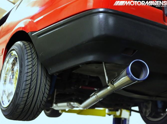 AE86, Tomei,60R, titanium exhaust