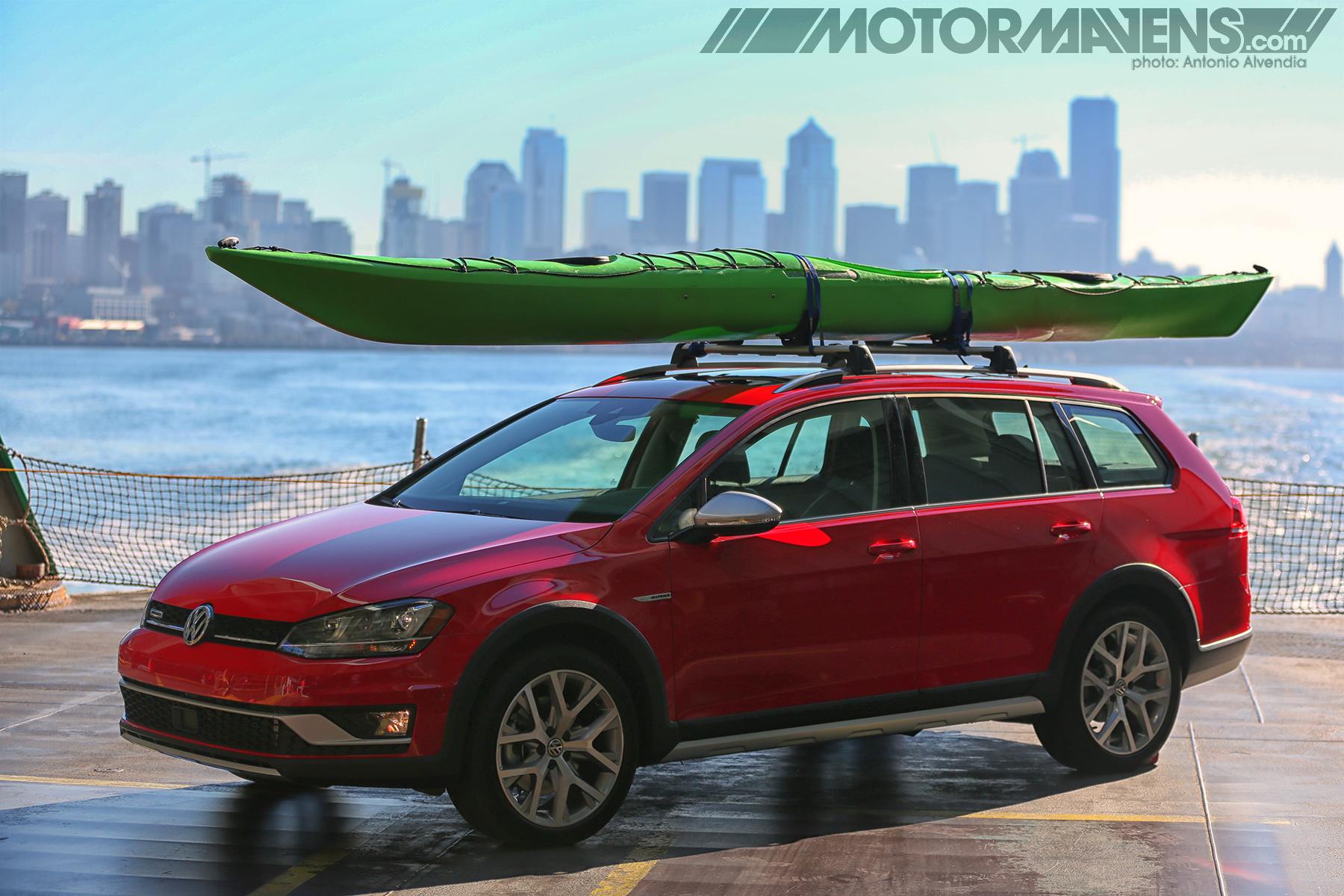 VW Golf. Golf Alltrack, Volkswagen, Sportwagen, VW, Bainbridge Island Ferry