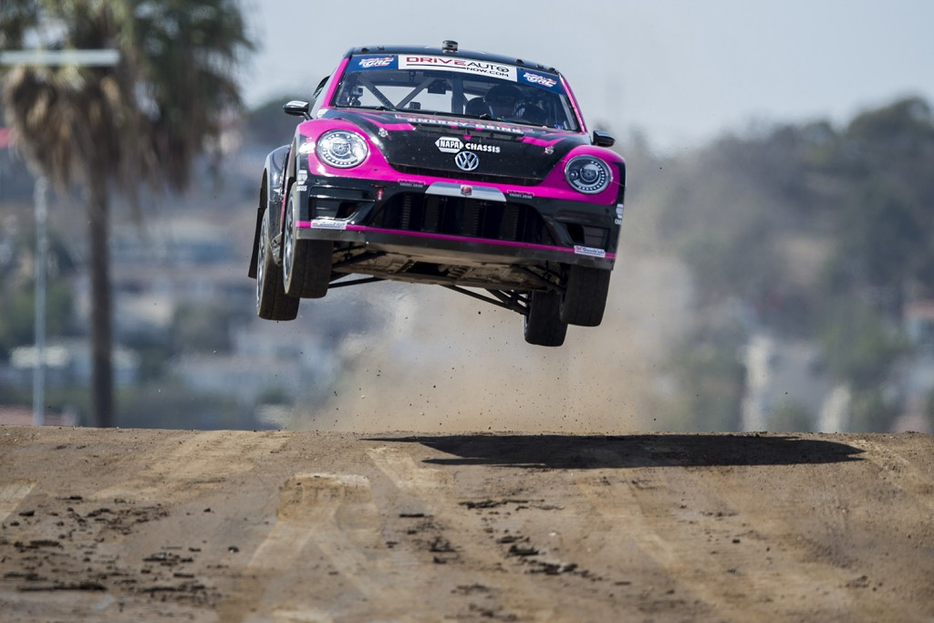 Volkswagen Wins Manufacturer Championship Red Bull Global Rallycross VW Turbo Beetle Tanner Foust
