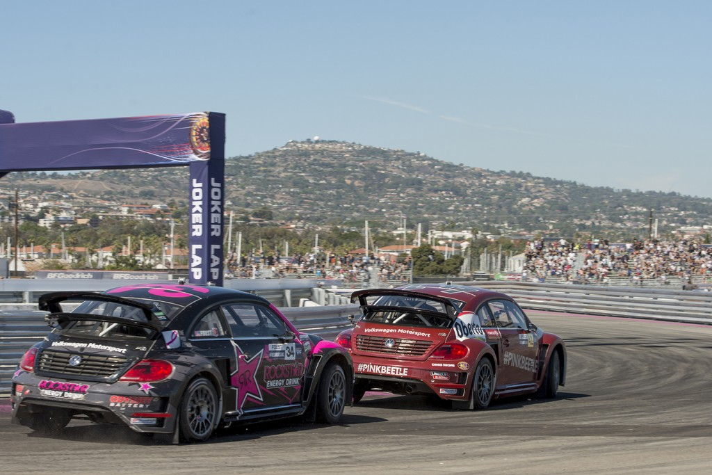 Volkswagen Wins Manufacturer Championship Red Bull Global Rallycross VW Turbo Beetle Scott Speed Tanner Foust