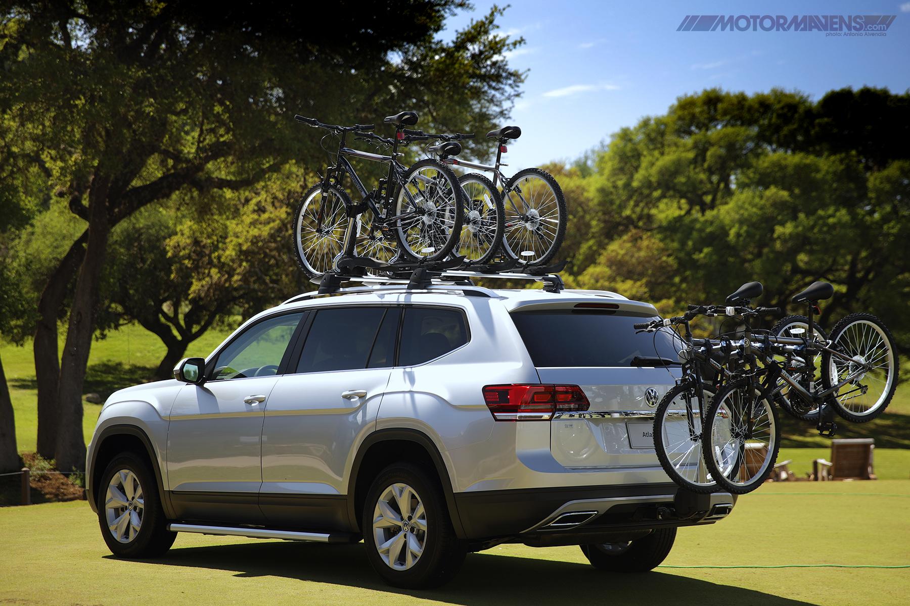 Rear Bike Rack Roof rack on VW Atlas 7 seat 3 row SUV 4Motion AWD Turbocharged