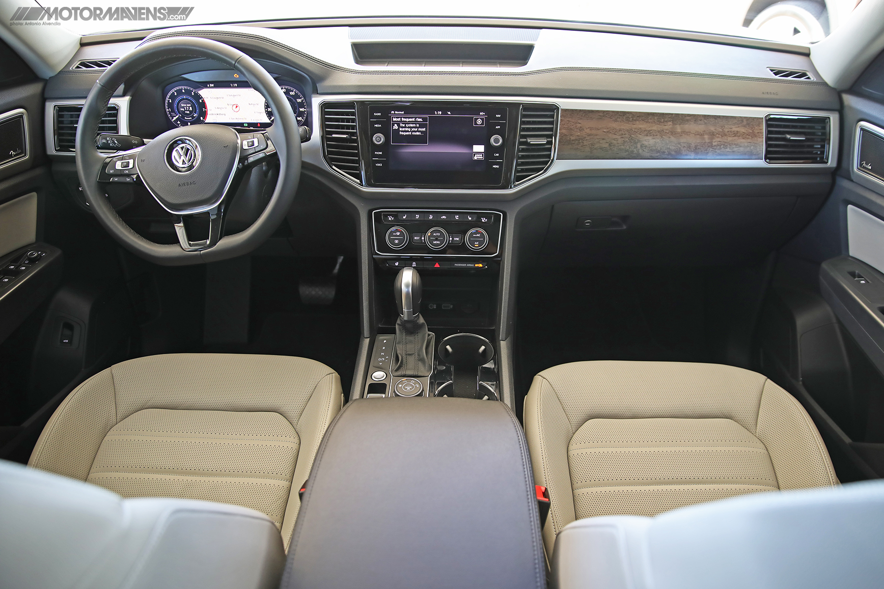 VW Atlas 7 seat 3 row SUV interior 4Motion AWD Turbocharged