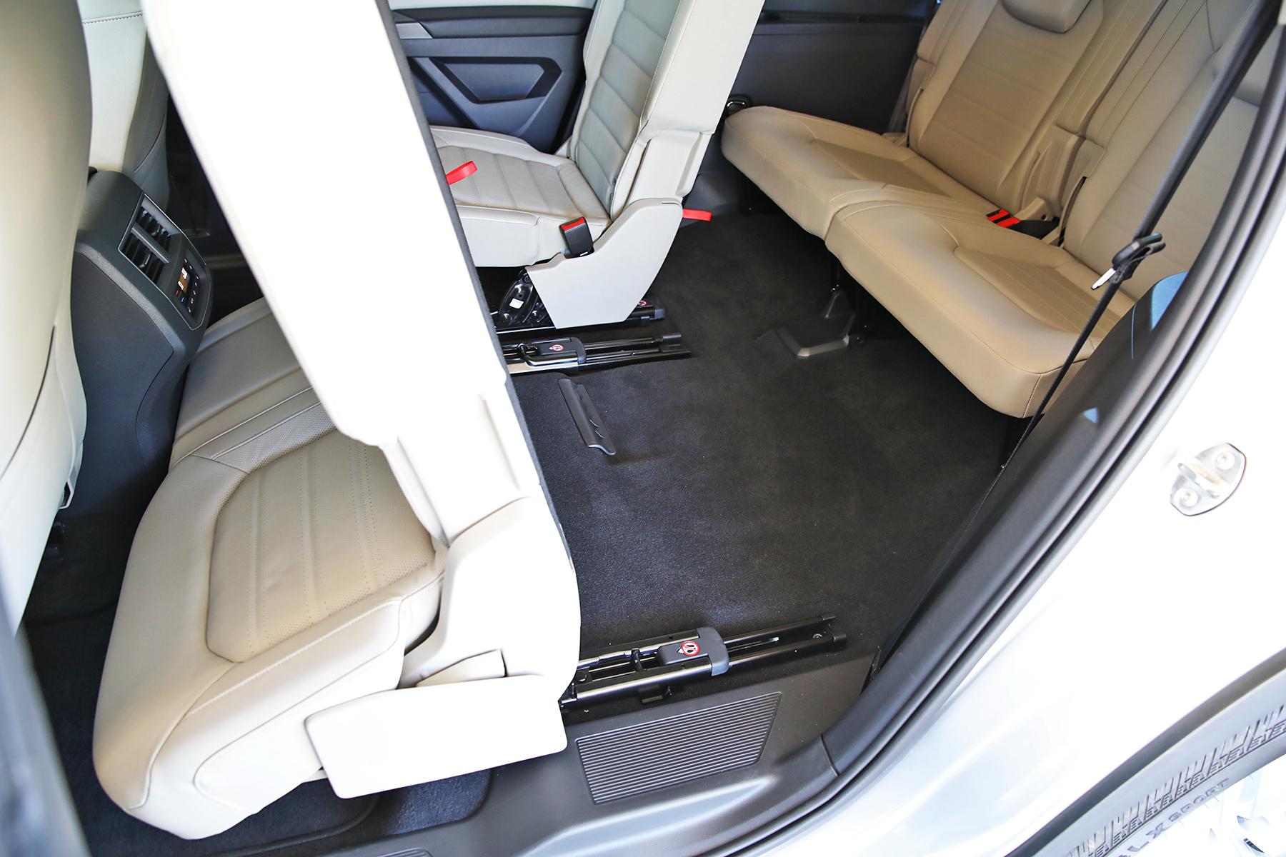 VW Atlas SUV rear interior Volkswagen