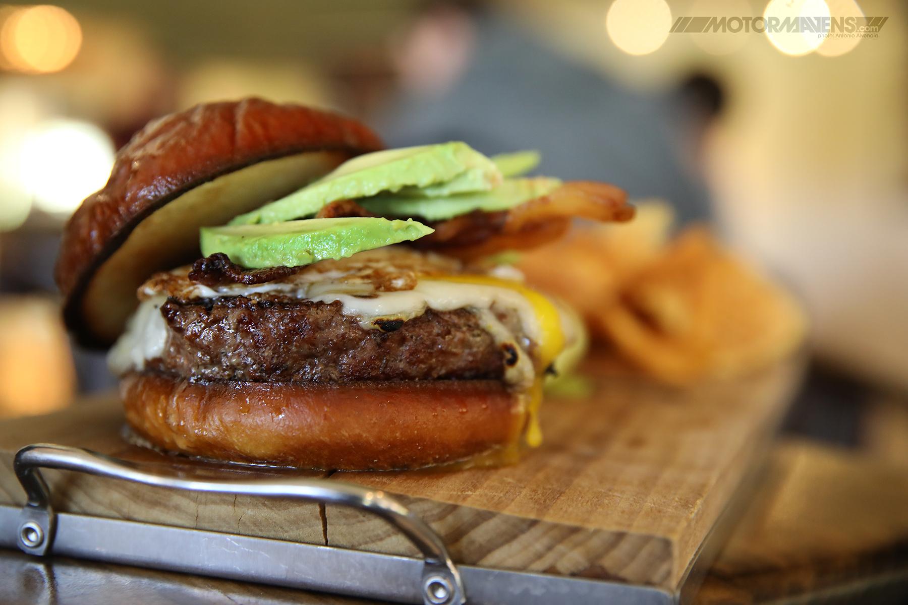 grilled hamburger avocado bacon