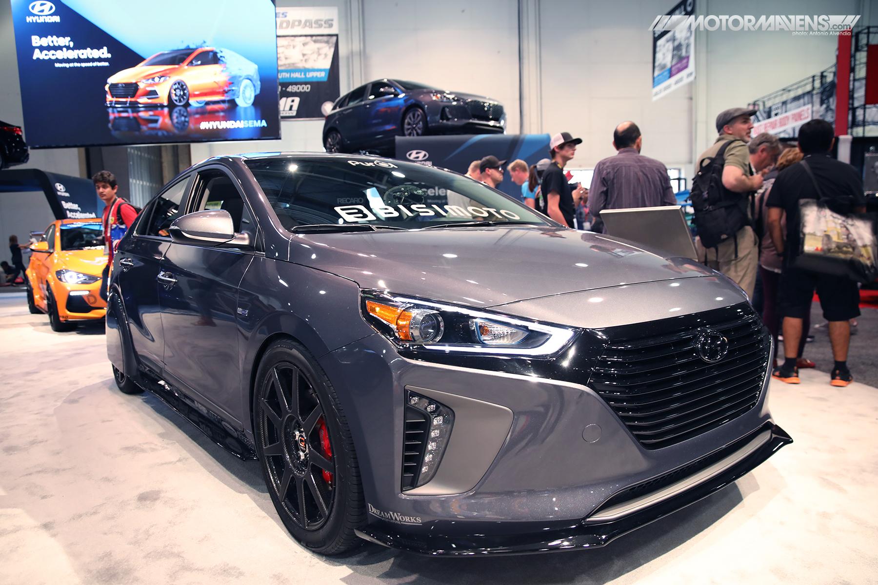 Bisimoto, Hyundai, ioniq, hybrid, sema