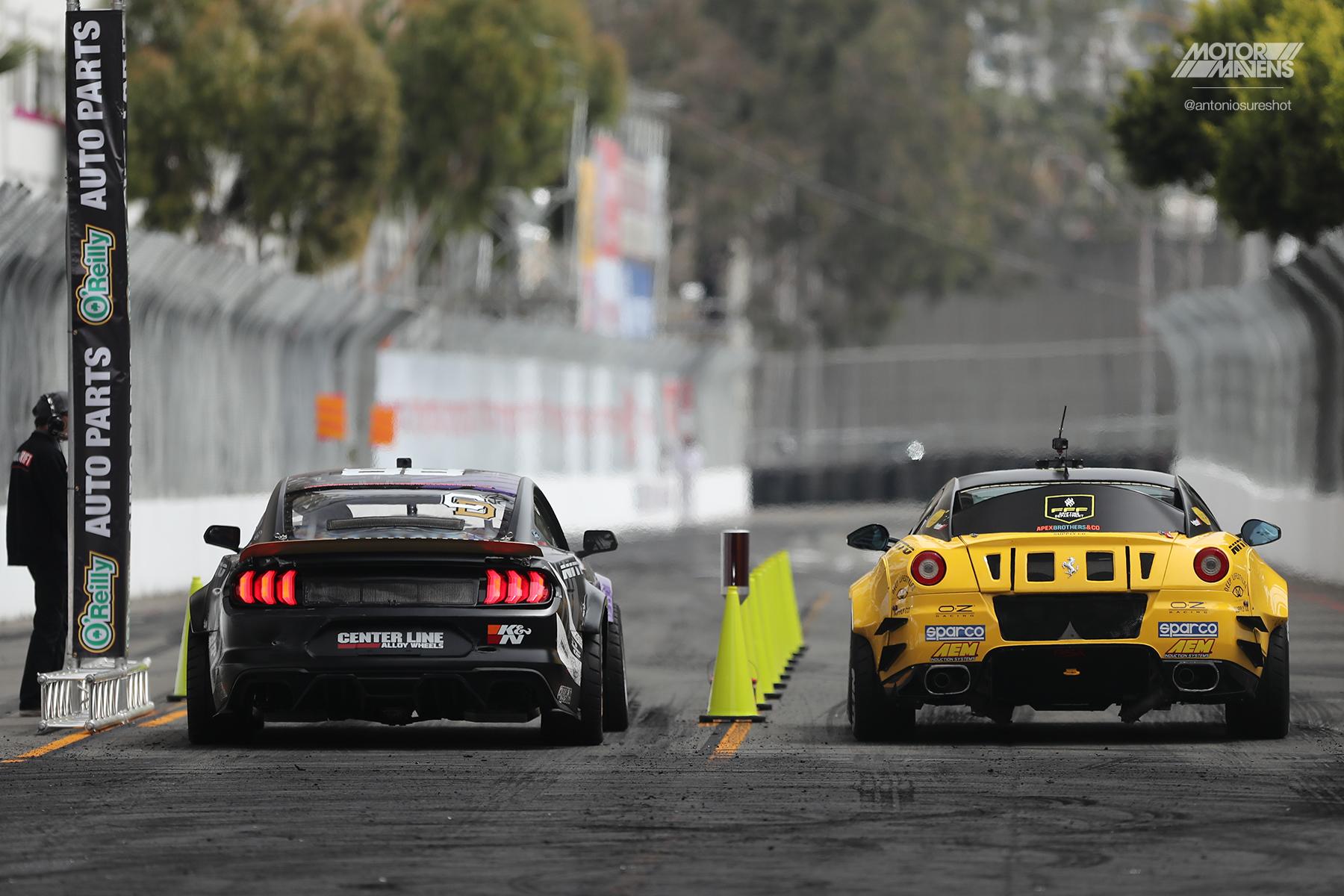 Federico Sceriffo, Ferrari 599, Formula Drift, Chelsea Denofa, Mustang RTR