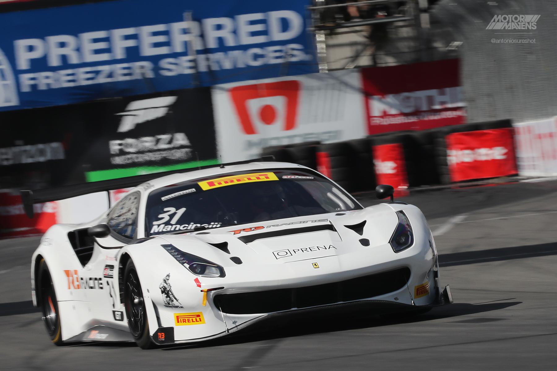 Ferrari, Ferrari 488, Ferrari 488 GT3, Pirelli World Challenge, Daniel Mancinelli, Long Beach Grand Prix