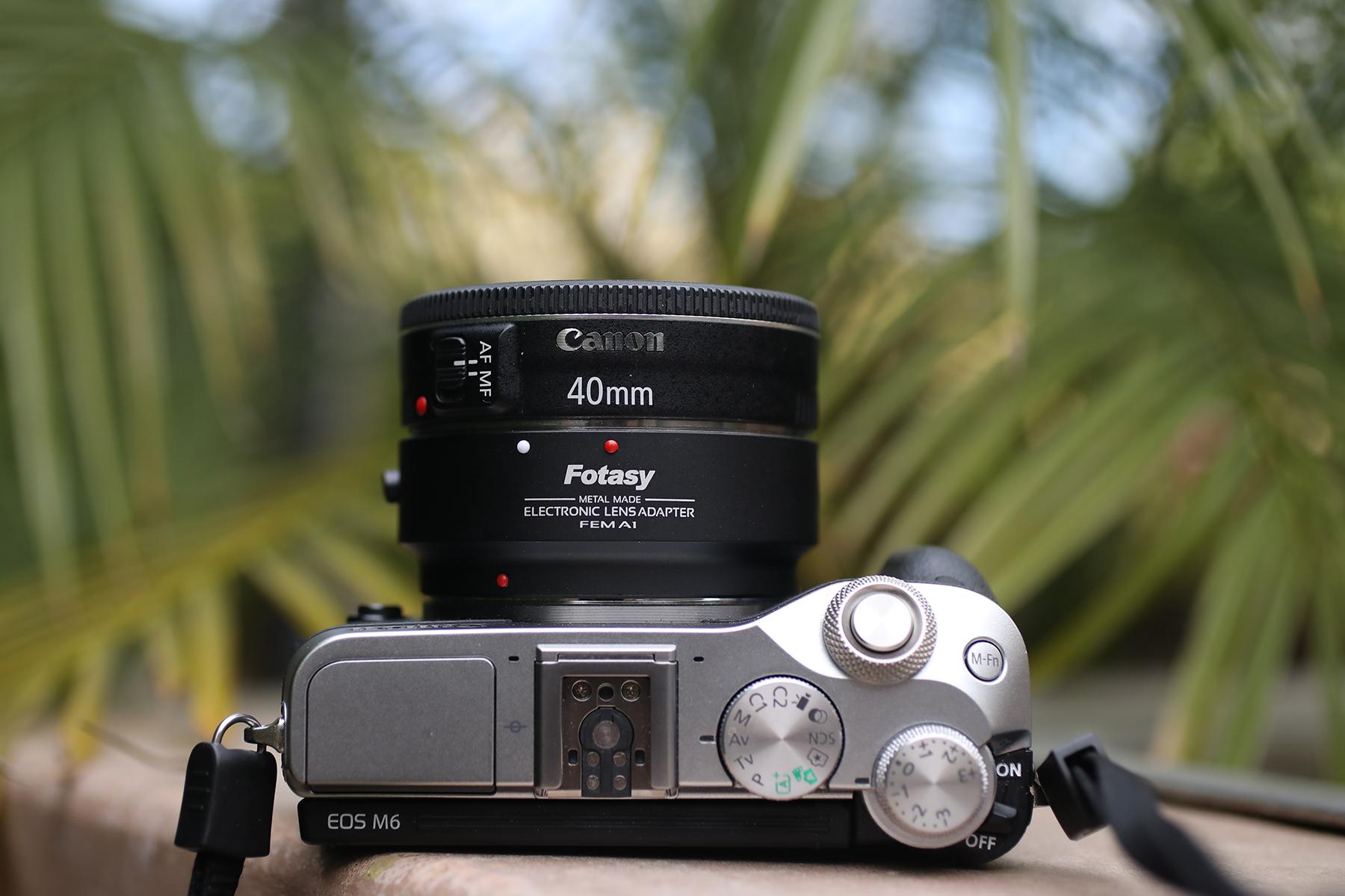 Fotasy, EF to EFM, EFM to EF, Electronic Lens Adapter, FEMA1, FEM A1