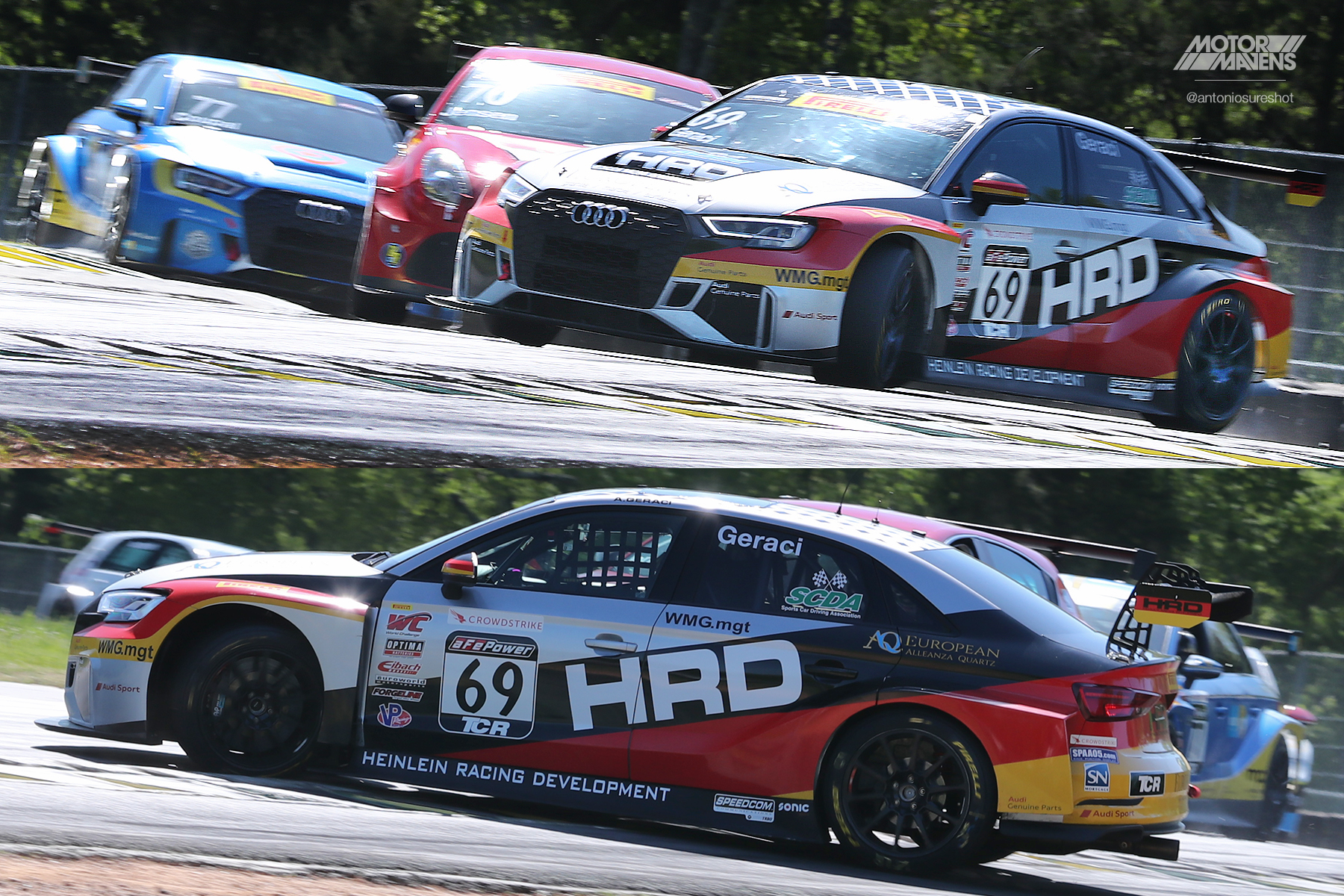 HRD, Audi RS3 LMS, Pirelli World Challenge Virginia International Raceway, VIR, PWC, TCR