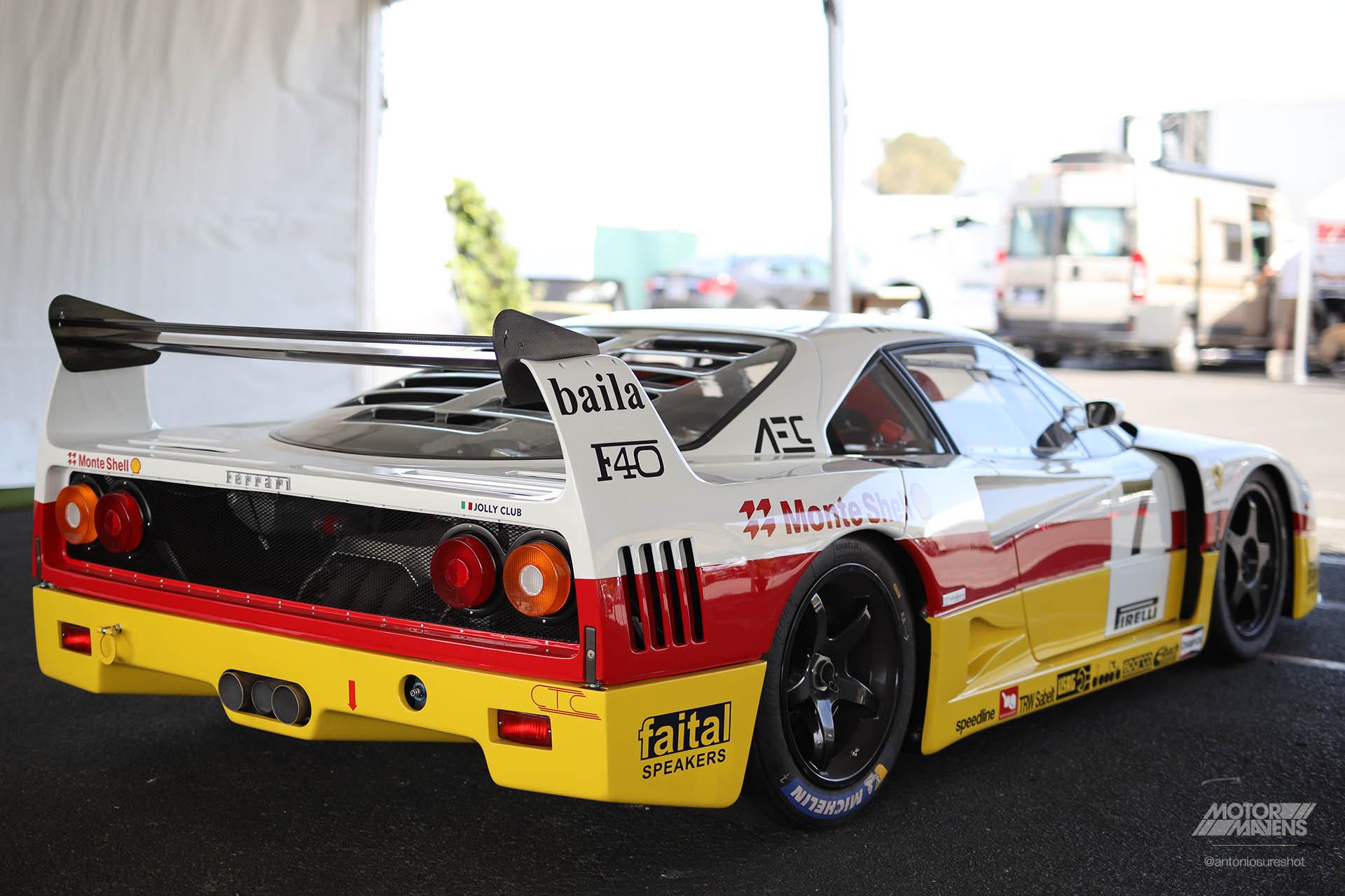 Ferrari F40 LM, F40, Ferrari, Antonio Alvendia, Ferrari, F40 LM, Sonoma Speed Festival, Ferrari F40
