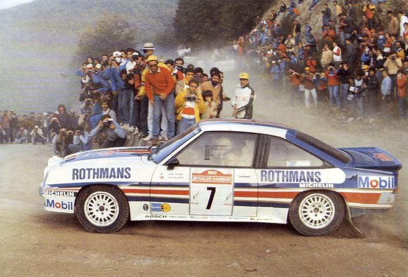 Opel, Manta, Ari Vatanen, rally, isle of man, manx rally